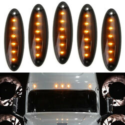Oe-spec Amber Led Raised Roof Clearance Marker Lights For Freightliner Cascadia