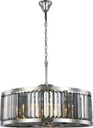 Chelsea Pendant Traditional Antique 10-light Silver Shade Crystal Polis