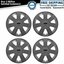 Oem Wheel Hub Cap Set Of 4 Lh Rh Front And Rear 16 Inch Silver For Ford Fusion New