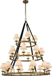 Cascade Pendant Lamp Transitional Burnished Brass Metal Wire Bronze C