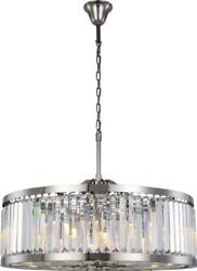 Chelsea Pendant Traditional Antique 10-light Crystal Clear Polished Nicke