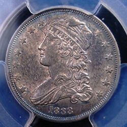 1838 Capped Bust Quarter Pcgs Ms 62 Very Clean Lustrous Original And Well Struck