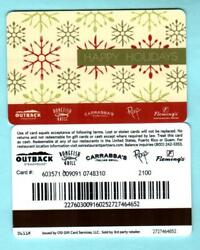 Outback Steakhouse Happy Holidays 2011 Gift Card 0  1/2