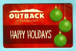 Outback Steakhouse Happy Holidays Ornaments 2013 Gift Card 0