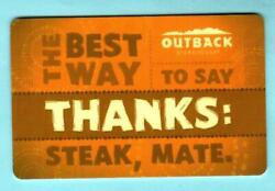 Outback Steakhouse Thanks 2014 Gift Card 0
