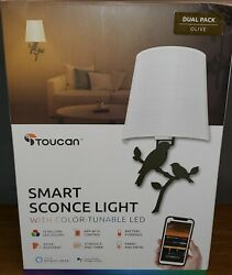 Smart Home Lighting by Toucan with Integrated LED Sconce Olive Wall Birds