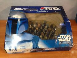 Rare Star Wars Episode Ii Pepsi Bottle Cap Collection With Collection Stage