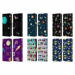 Official Haroulita Space Graphics Leather Book Wallet Case For Htc Phones 1