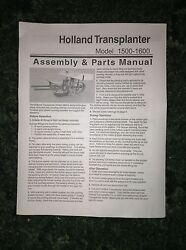 A New Parts Catalog For A Holland 1500, 1600 Transplanter Setters