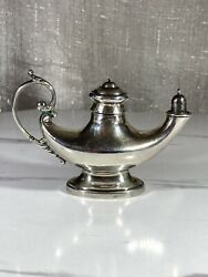 Antique Rare Reed And Barton Oil Lamp Form Cigar Lighter 65 Sterling Silver