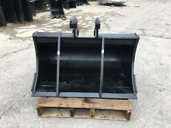 New 36 Excavator Clean Up Bucket For A Takeuchi Tb145 W/ Coupler Pins