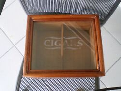 CIGARS HUMIDOR VINTAGE FROM 1997 CRYSTAL TOP W HYGROMETER