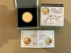 2018 Israel 1/2 Oz Gold 10 Nis Masada Proof - Rare Gold Coin Only 555 Ever Made