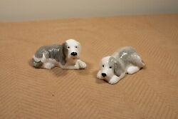 Vintage 1979 Gregg Moll Old English Sheep Dog Salt And Pepper Shakers - Preowned