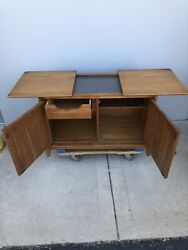 Mid Century Modern Furniture Dining Set Table 4 Chairs Server China Cabinet