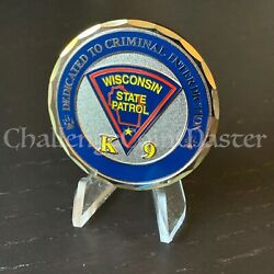 D53 Wisconsin State Patrol K9 Unit Police Challenge Coin