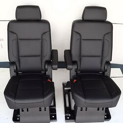 2020 2019 2018 2017 Suburban 2nd Row Seats In Black Leather Non-perforated