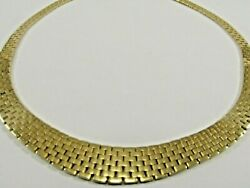 14k Solid Gold Heavy Mesh Necklace Italy 17l X 11mm Sale-save 2,400.  1353
