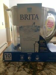 New Brita Large 10 Cup Grand Water Pitcher + 3-Sealed Filters NIB Never Opened!
