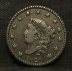1828 Coronet Head Large Cent Small Date Xf