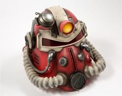 Fallout 76 T-51 Power Armor Helmet 11 Replica Nuka Cola Edition Poster And Pins