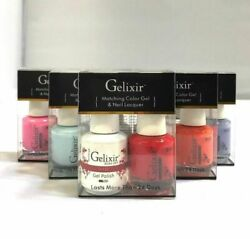 Gelixir Uv/led Soak Off Gel Polish Complete Matching 180 Colors Free Color Book