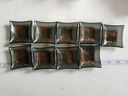 Lot Of 9 The Mint Hotel And Casino Smoked Glass Trinket Dish Ashtray
