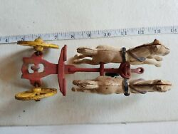 Antique Toys Cast Iron Parts Wheels Trailers Carriage