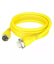 Furrion 50a 125/250v Boat Marine Cordset 50ft Length Yellow W/led F50250-sy