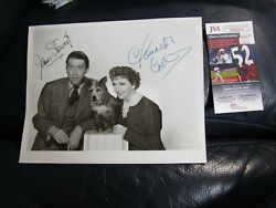 James Stewart And Claudette Colbert Autographed Photo Jsa Certified