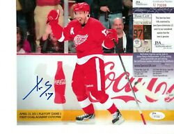 Autographed Red Wings 8x10 Some Jsa Hof Today Game Programs Cup 1 Ship Ea More
