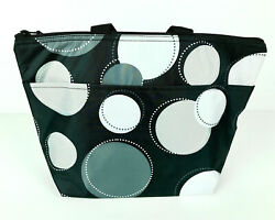 Thirty One Thermal Cooler Tote Bag Black White & Gray Design Carry Bag Picnicing $18.70