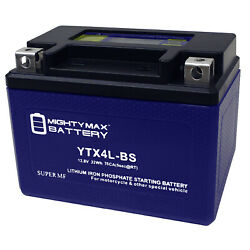 Mighty Max Ytx4l-bs Lithium Battery Replacement For Rideon Mower Atv Trail Buggy