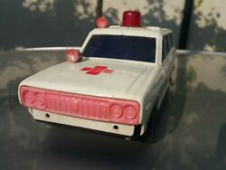 Vintage Car Ambulance Plastic Toy 1972 Battery Operated Made In Spain For Parts