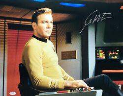 William Shatner Signed And039star Trekand039 16x20 Photo Psa 7a30295