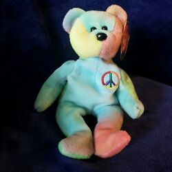 Ty Beanie Baby Peace - Excellent Condition, 1996 Vintage, Retired