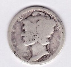 1918 Mercury Dime In About Good Condition .w3000