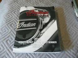 Indian Scout Scout 60 Scout Bobber Genuine Service Manual 2018 Not Reprint