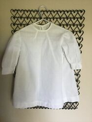 Antique Circa 1900 Victorian Edwardian  White Baby Dress or Gown Excellent $22.00