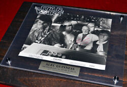 Signed Alec Guinness Star Wars Autograph, Coa Uacc, Frame, Plaque, Blu Ray Dvd