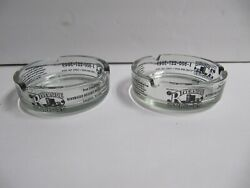 Lot Of 2 New Don Laughlin's Riverside Resort Hotel And Casino Clear Glass Ashtray