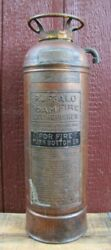Crr Nj Central Railroad Of New Jersey Old Buffalo Foam Fire Extinguisher Sign Ad