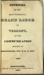 Journal Of The Most Worshipful Grand Lodge Of Vermont At The Communication 1827