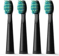 Fairywill Electric Toothbrush Replacement Heads Soft for 507 917 508 Black Serie $7.99