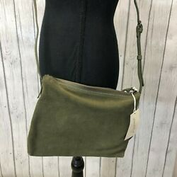 Universal Thread Genuine Suede Medium Crossbody Bag Olive Green New with Tags $29.99