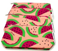 Lot of 6: Clinique Donald Cosmetic Makeup Bag with Watermelon Print $8.95