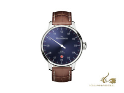 Meistersinger N3 - 40 Mm Automatic Watch, Blue, 40mm, Brown, Day, Dm908-sg02w