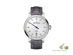 Meistersinger N3 - 40 Mm Automatic Watch, White, 40mm, Grey, Day, Dm901-sg06w