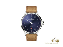 Meistersinger N3 - 40 Mm Automatic Watch, Blue, 40mm, Brown, Day, Dm908-sv03