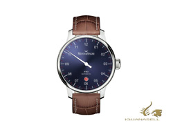 Meistersinger N3 - 40 Mm Automatic Watch, Blue, 40mm, Brown, Day, Dm908-sg02